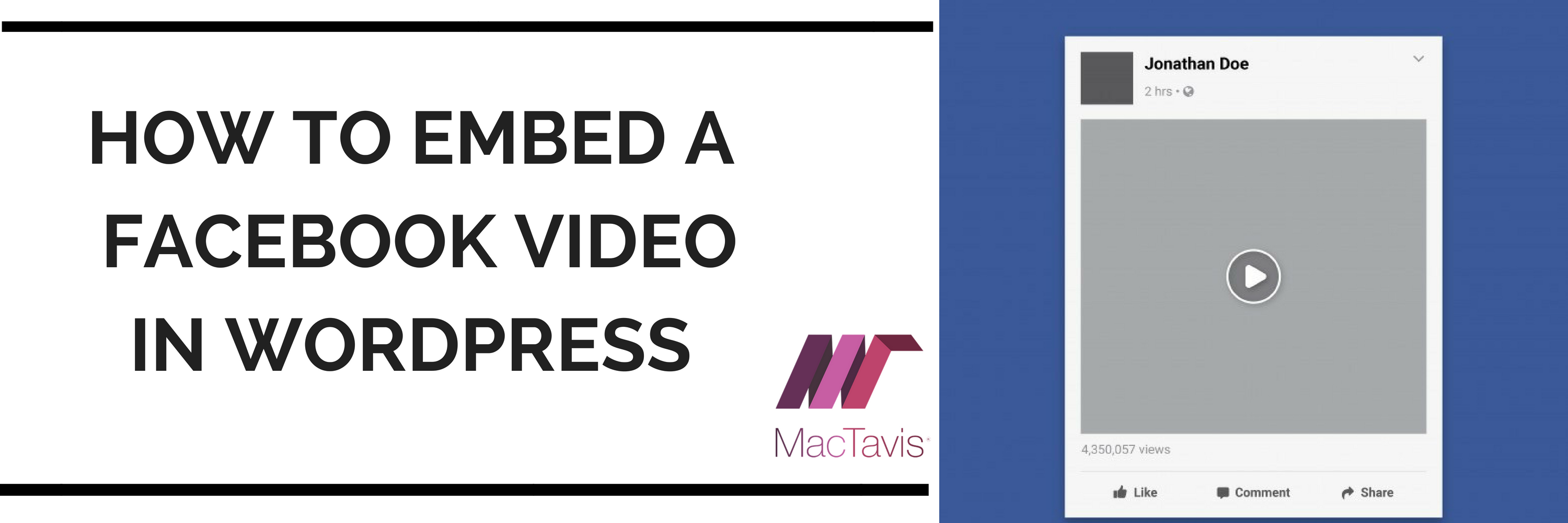 Step-by-step guide on How to Embed a Facebook Video in WordPress