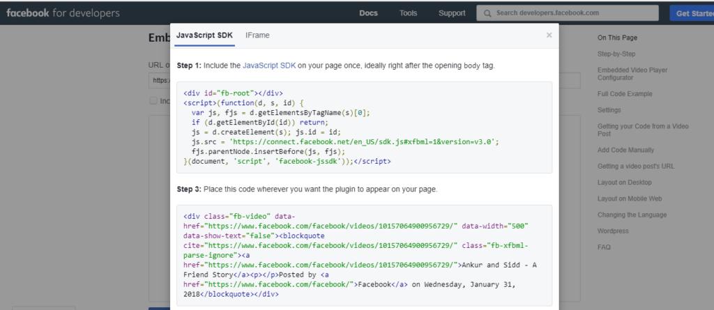 Mactavis Facebook embed generator double code