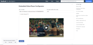 facebook video embed generator